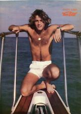 ANDY GIBB PINUP CLIPPING FROM A MAGAZINE 70'S SHIRTLESS BAREFOOT