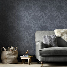 Superfresco Easy Paste the wall Jacquard Trail Charcoal Wallpaper