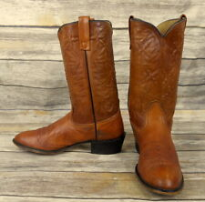 Mens 11 D Cowboy Boots Acme Vintage Tan Brown Country Western Rockabilly Shoes