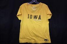 Colosseum Athletics 100% Cotton Yellow Iowa Hawkeyes Tee Womens Size L-B129