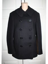 Vintage Mens WWII Naval Clothing Factory Grimmel 10 Button Navy Pea Coat Mint