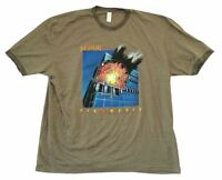 Def Leppard Pyromania Cover Art Heather Green Ringer T Shirt New Official Soft
