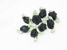 Polyester Satin Ribbon Mini Flat Roses 25 Pack lots of colors! US SELLER