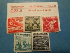 POSTAGE STAMPS AIRMAIL NICARAGUA