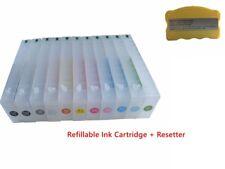 Empty Epson Stylus Pro 7910/7900/9900/9910 Refillable Ink Cartridge + 1 Resetter