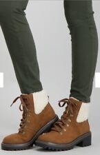 TU Women's Soft Sole Faux Suede Borg Fleece Cuff Ankle Boot  Size 8 RRP £28