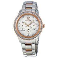 Citizen Silhouette Crystal White Dial Ladies Watch FD2016-51A