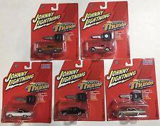 Johnny Lightning Chevy Thunder lot of 5 cars release 2 Corvette Chevelle Nova