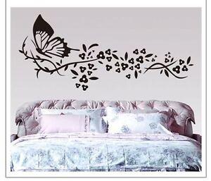Wandtattoo Wandbild Blume Blumenranke Schmetterling Aufkleber