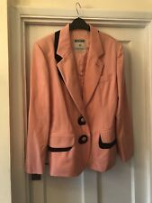 New Moschino Couture Pink & Black Contrast Classic Blazer Jacket,46/14