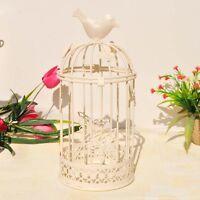 Vintage Metal Bird Cage Candlestick Tea Light Candle Holder Home Decoration 1pcs