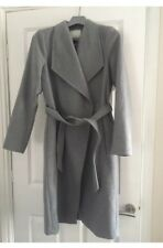 River Island Long Light Grey Belted Coat Size 12 BNWT £85