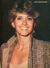 OLIVIA NEWTON JOHN PINUP CLIPPING CUTTING FROM A MAGAZINE 80'S BIG SMILE GREASE