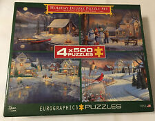 Eurographics Puzzle 4 Individual 500 Pc - Christmas Puzzle Set