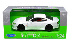 WELLY 1:24 W/B NISSAN S-15 Diecast Car Model White Color 22485