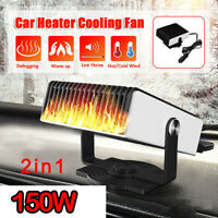 12V 150W Car 2 in 1 Portable Cigarette Lighter Car Fan Heater Defroster Demister