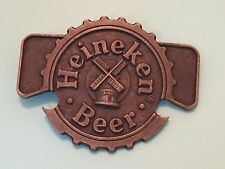 Heineken Beer Belt buckle with built in Bottle Opener 1970s