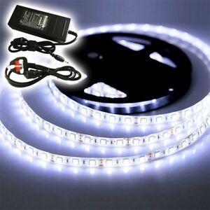 12v 5M - 20M WHITE CLEAR LED 3528 5050 SMD STRIP BRIGHT LIGHT WATERPROOF VAN BUS