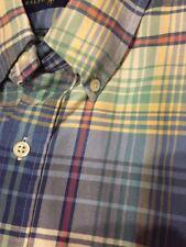 Ralph Lauren Polo LS button down shirt  Men's Small S Blue Plaid NWT