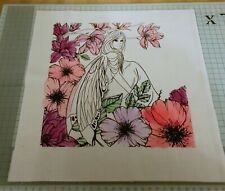 Serenity Fairy Screen Printed Fabric Panel Make A Cushion Craft