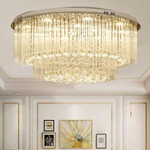 Crystal LED Ceiling Lights chandeliers Restaurant Living Room Lights Lamp UK