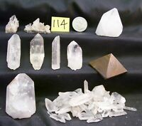 Tiger Iron Pyramid & Points & Clusters Arkansas Crystals Mt.Ida (114)