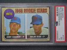1968 Topps - Nolan Ryan & Jerry Koosman - #177 - PSA 5 - EX - Rookie RC