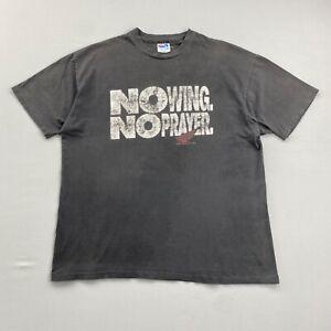 Hanes Vintage 90s HONDA The Red Riders Black Distressed T Shirt Mens XL