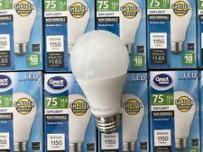 10 PACK LED 75W = 13.5W Daylight 75 Watt Equivalent 5000K A19 light bulb