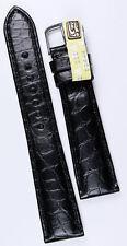 19mm/16mm IN VERO ALLIGATORE nastro GERMANY conte Louisiana krokoband venature sottili
