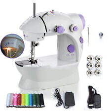 Portable Mini Electric Sewing Machine Stitch LED Light 2 Speed Foot Pedal Sewing