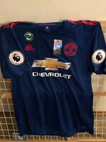 Adidas Pogba Men's Manchester United Authentic SS away 2016/2017 Soccer Jersey