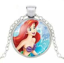 💕BellaBow Kids Pendant Necklaces, The Little Mermaid Princess Ariel