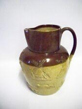DOULTON LAMBETH Glazed Stoneware Harvest Planter Jug 1890s
