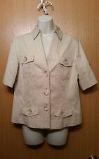 MICHAEL Michael Kors Beige Military Style Blazer Jacket Women's Size 10 Petite
