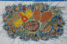 Tropical Fruit Painting Batik Art