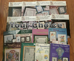 RELIGIOUS,INSPIRATIONAL,CHRISTIAN, BIBLE counted cross stitch charts-YOUR CHOICE