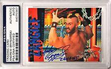 Andrew Bryniarski Street Fighter Zangief #69 Signed Auto Card PSA/DNA Slabbed