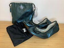 Bagllerina Paris Folding Ballet Pumps Gorgeous Flats Dk Green Eur 35 UK 3 FR 36