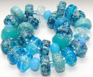 """Sistersbeads """"L-River Dance-Large"""" Handmade Lampwork Beads"""