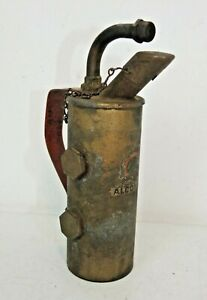 Small Vintage LENK BRASS ALCOHOL BLOW TORCH, Hand Spirits Burner, with Label