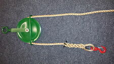 Gin Wheel with Rope 20M of Manila Rope and 1.5 Ton Swivel Hook-Roofing