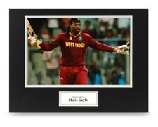 Chris Gayle Signed 16x12 Photo Display West Indies Autograph Memorabilia + COA