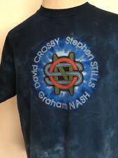 LIQUID BLUE CROSBY, STILLS & NASH SUMMER TOUR 2009 TIE DYE CONCERT TEE ~ Large