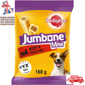 Pedigree Jumbone Small Dog Treats with Beef & Poultry 32 Dog Chews 160g