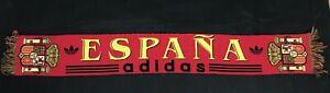 ESPANA Adidas Scarf SPAIN Football Soccer Scarf Bufanda RARE Trifoil Logo Adidas