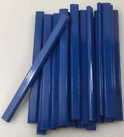 Flat Wooden Royal Blue Carpenter Pencils - 72 Count Bulk Box