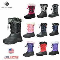 DREAM PAIRS Kids Boys Girls Warm Snow Boots Insulated Waterproof Winter Ski Boot