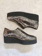 Surface To Air Silver Snakeskin Platform Loafers