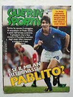GUERIN SPORTIVO 29-1985 +QUADERNI SAMPDORIA VINCE COPPA ITALIA PAOLO ROSSI ZICO